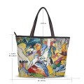 Personalized Canvas Tote Bag Purse abstract painting Sketch for Composition II by Wassily Kandinsky USD19 2